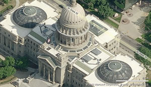 Aerial capitol image by MS Bing