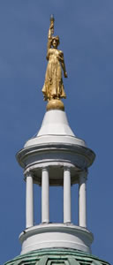 Cupola and statue