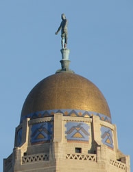 Close-up of dome
