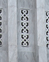 Detail of drum marble and architecture